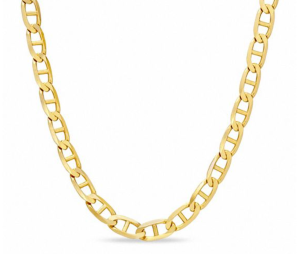 """Men's 3.2mm Mariner Chain Necklace in 10K Gold - 20"""""""