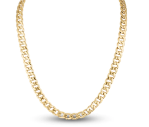 Men's Curb Chain Necklace Gold Ion-Plated Stainless Steel