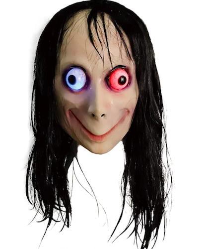 Molezu Creepy Momo Mask, scary halloween masks