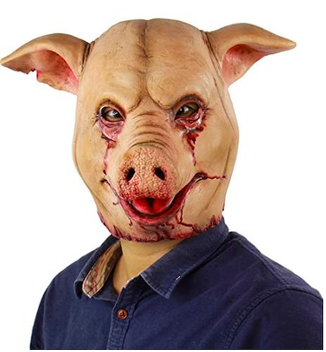 Xiao Chou Ri Ji Scary Bloody Pig Halloween Mask