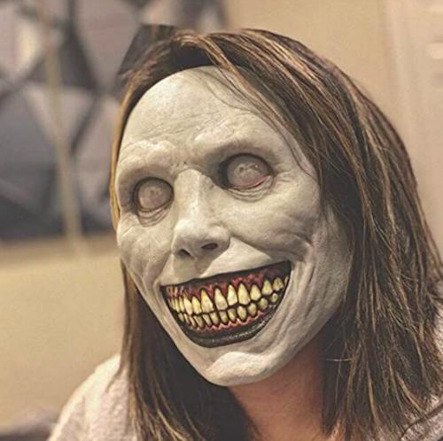 Keeljoyplay Creepy Halloween 2-Pack Smiling Demon, scary halloween masks
