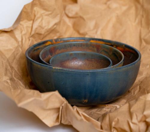 Creating Comfort Lab Rust Stoneware Salad Serving Bowl