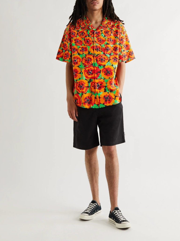 Stüssy Camp-Collared Print Shirt