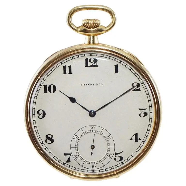 Tiffany-Co.-18Kt.-Yellow-Gold-Art-Deco-Pocket-Watch-Hand-Made