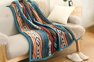 get cozy and stay warm this fall with a super-soft flannel blanket