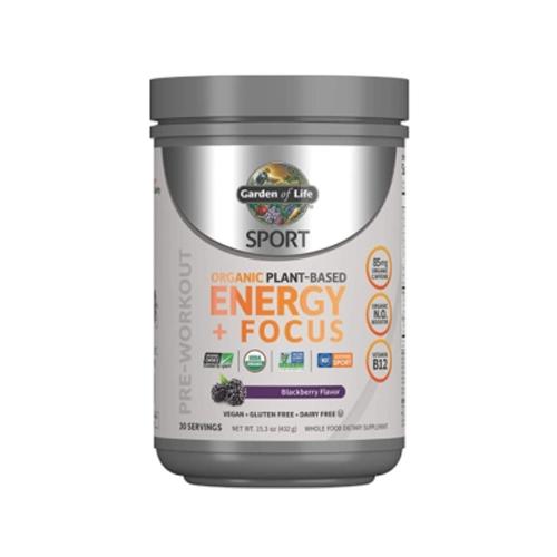 Garden of Life Sport Organic Plant-Based Energy + Focus, Preorkouot Supplements