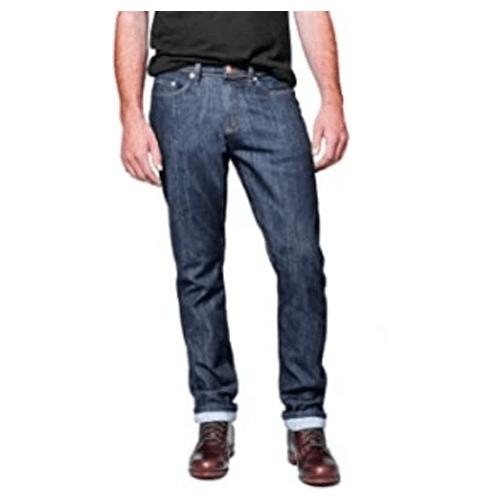 Duer Men's Performance Denim, packable clothing