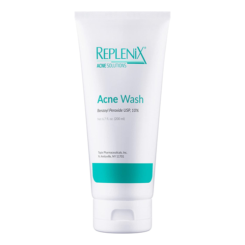 Replenix 10% Benzoyl Peroxide Wash Advanced Acne Cleanser for Face and Body; best body wash for acne