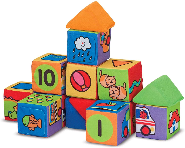 Melissa & Doug K's Kids Match and Build Soft Blocks Set