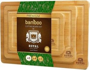 royal craft wood bamboo cutting board set