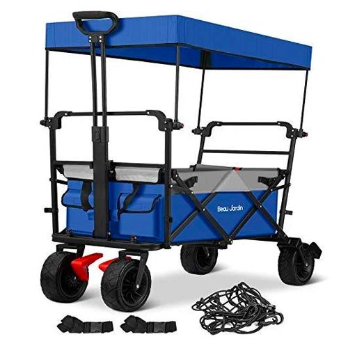 beau jardin folding push wagon with canopy