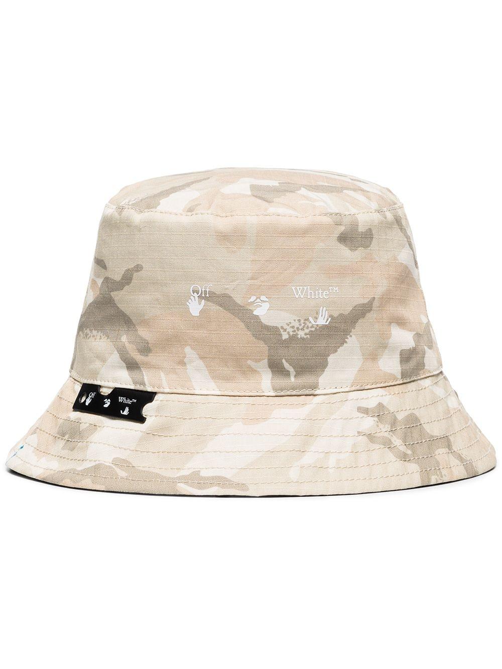 off white camo bucket hat