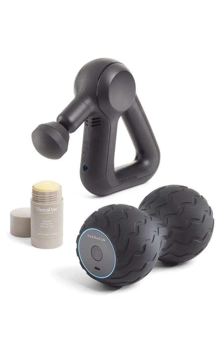 Theragun Prime, Wave Duo & Revive Stick Massage Bundle