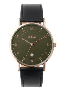 Breda Pei Leather Strap Watch