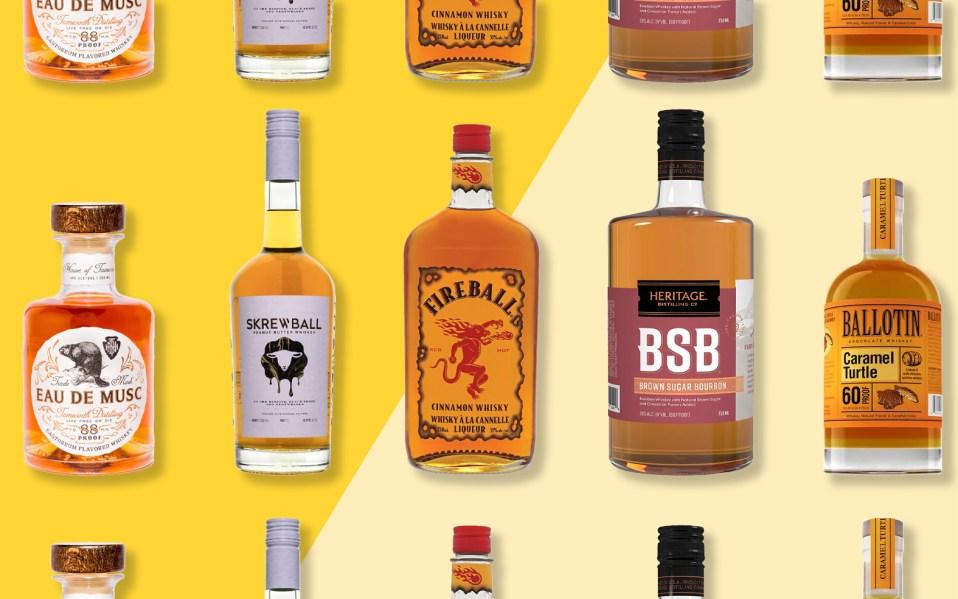flavored-whiskey bottles