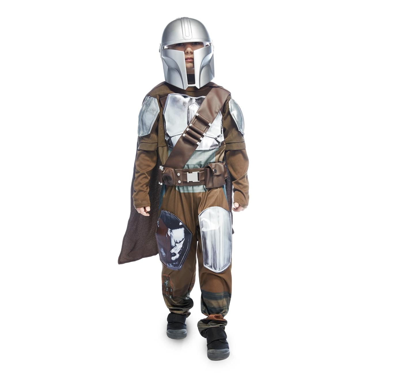 Kid in a Mandalorian Costume