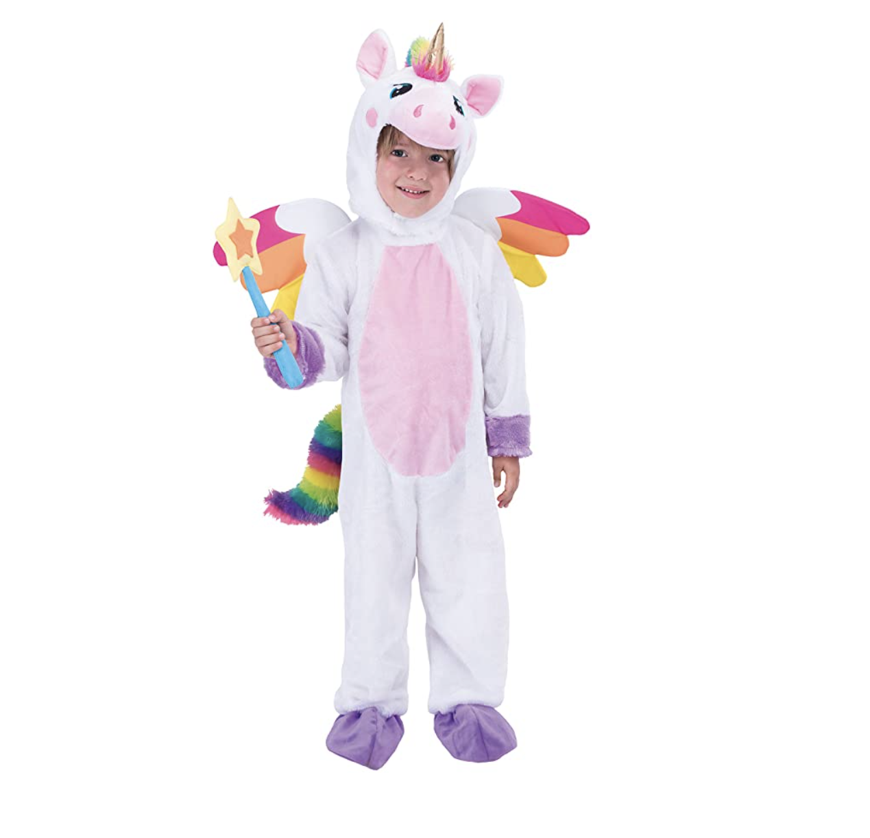 Kid in a unicorn costume