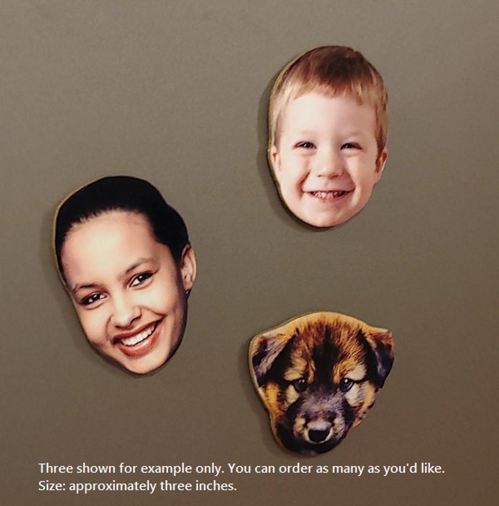 Family Faces Custom Refrigerator Magnets
