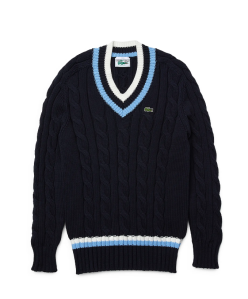 lacoste cable knit sweater 2