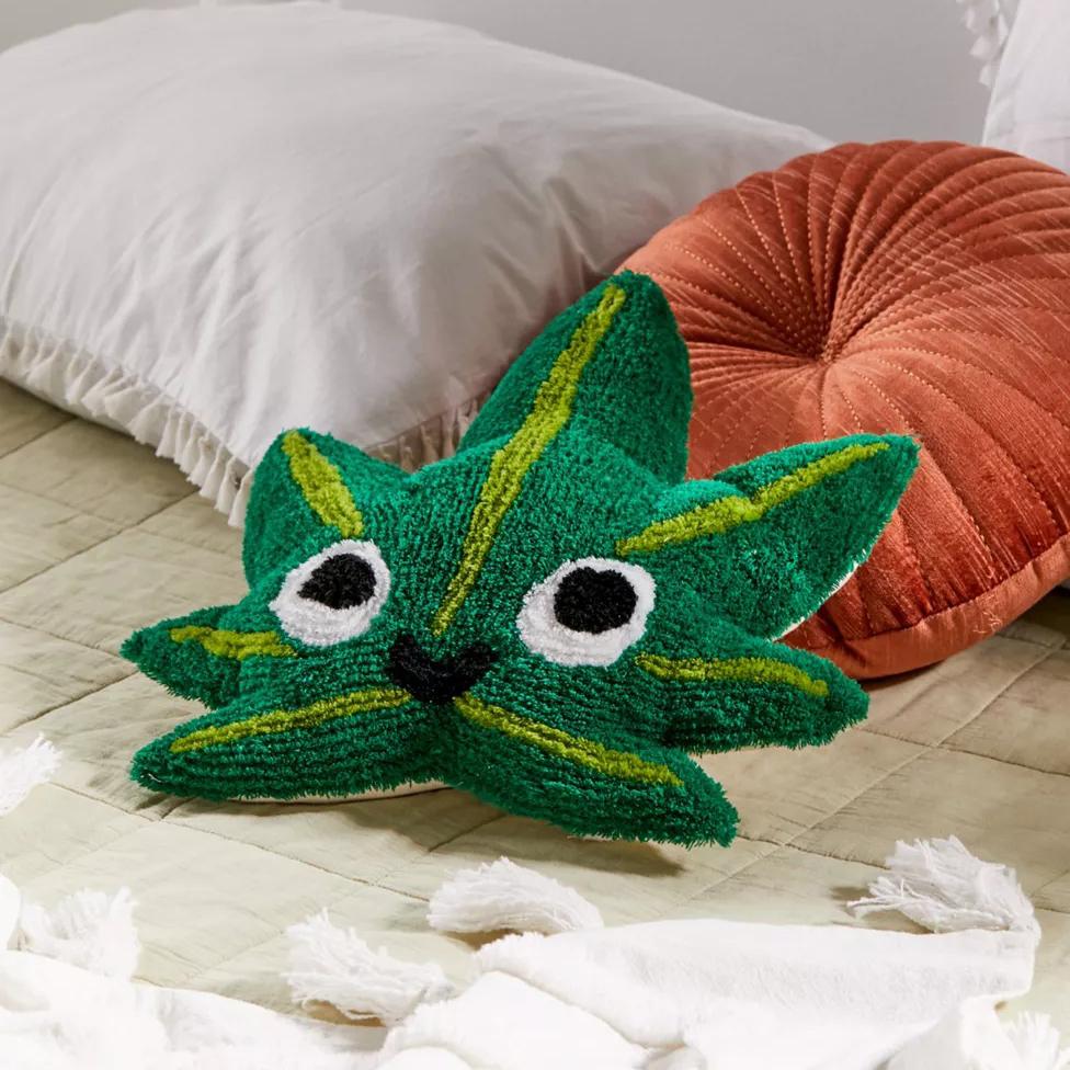 Leaf Buddy Throw Pillow