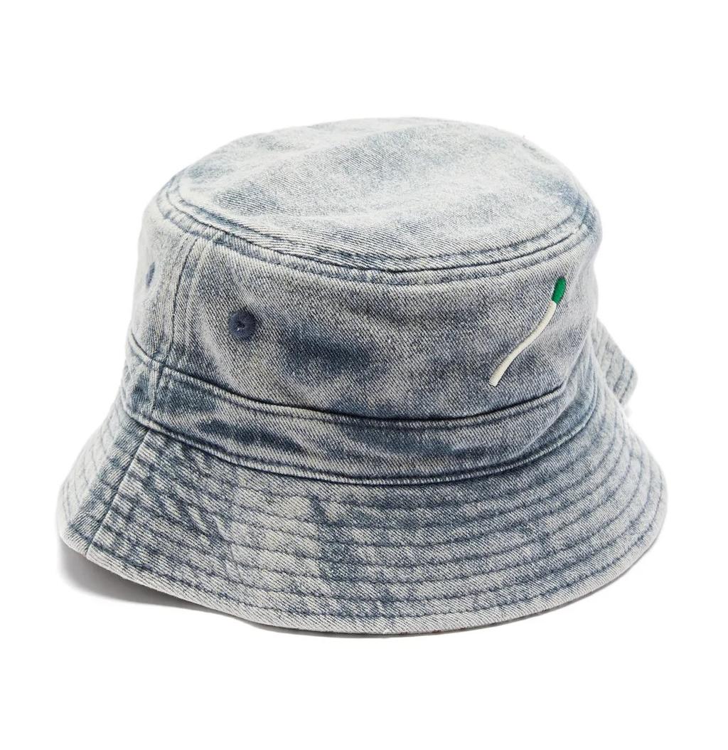 Nick Fouquet Matchstick-Embroidered Denim Bucket Hat
