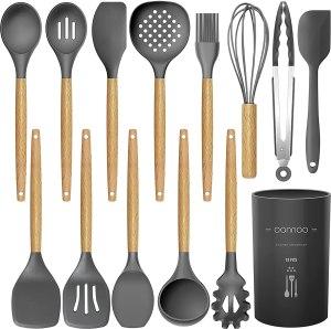 oannao silicone utensils set, kitchen gadgets under $50
