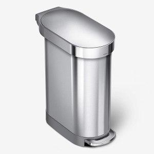 simplehuman 45 liter slim hands free step trash can