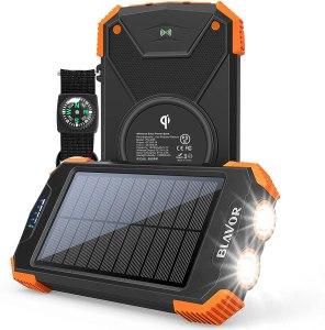 BLAVOR solar power bank, best emergency supplies