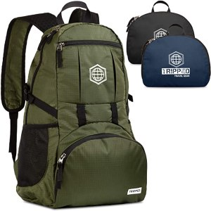 packable bags tripped travel backpack