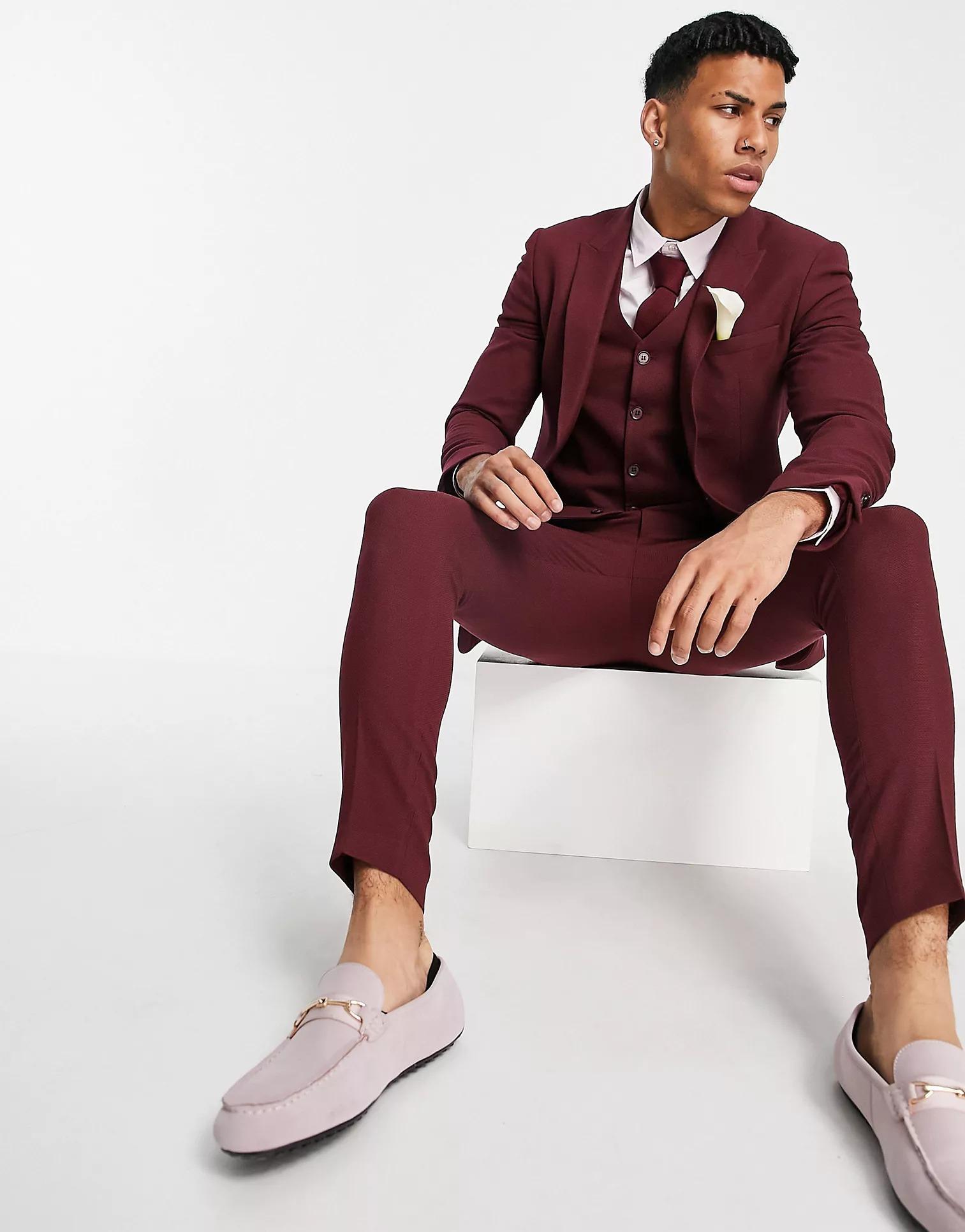 ASOS DESIGN Wedding Super Skinny Suit