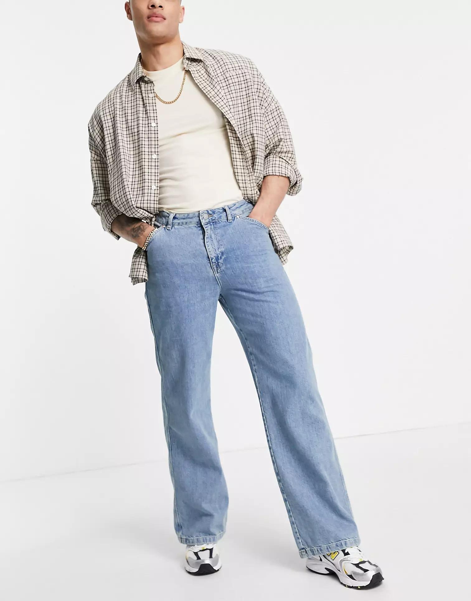 ASOS DESIGN Wide Hem Baggy Jeans