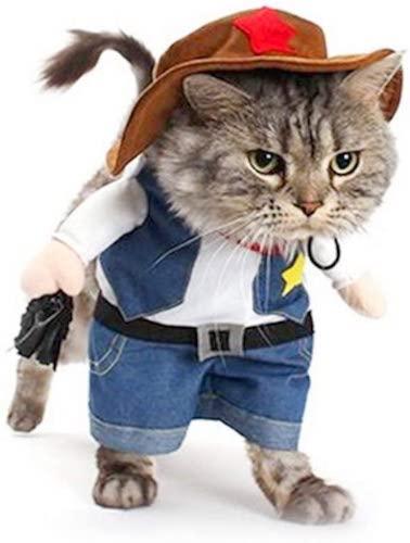 Meiheija Cowboy Suit for Cats