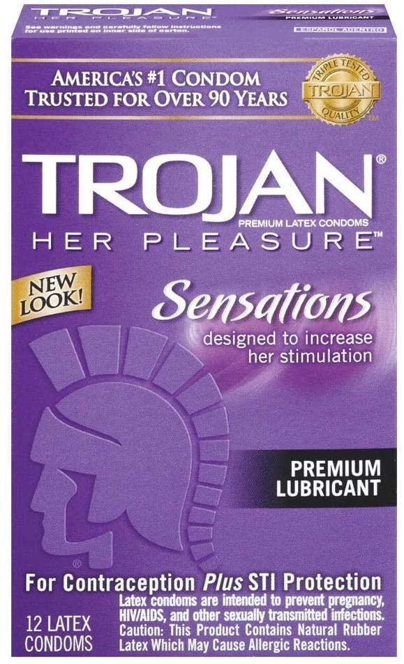 TROJAN Her Pleasure Sensations Lubricated Condoms