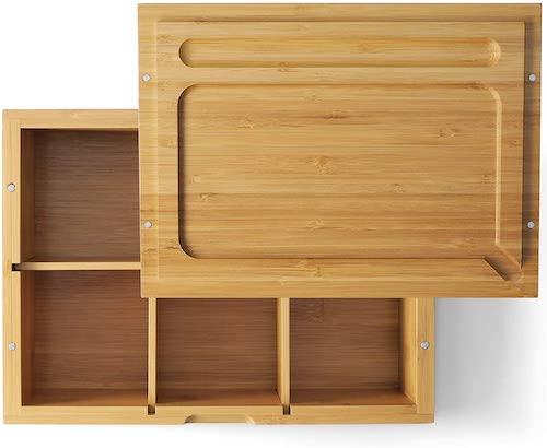 VUTADA Wood Stash Box and Rolling Tray