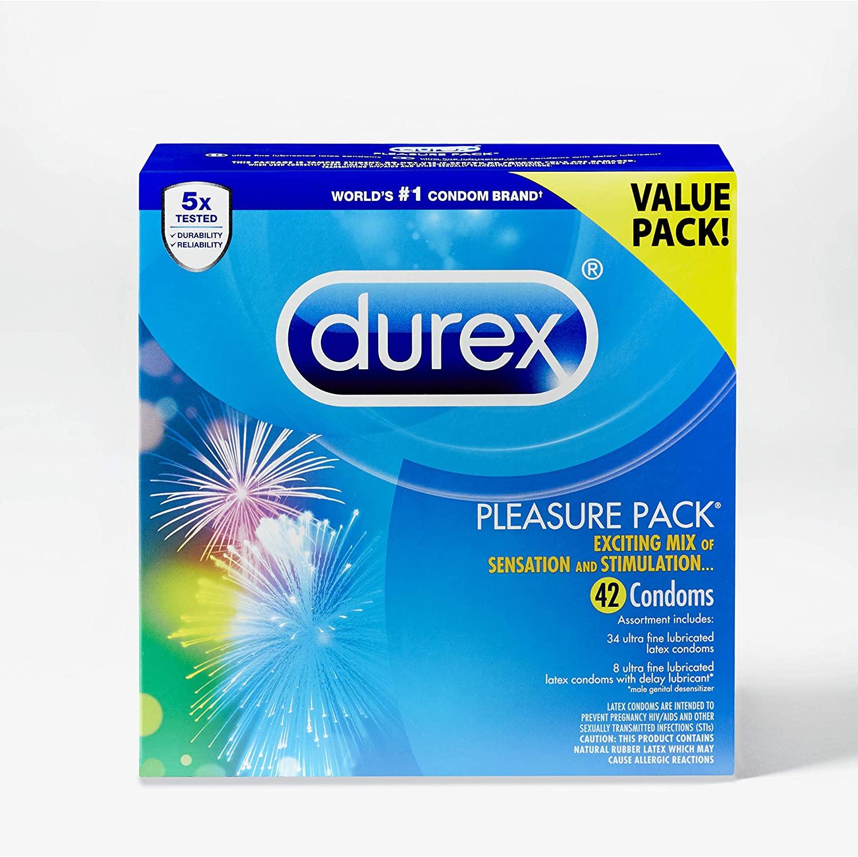 Durex Pleasure Pack Assorted Condoms