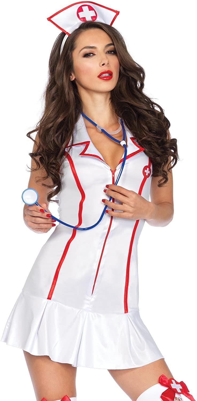 Leg Avenue Women's 3 Piece Head Nurse Costume