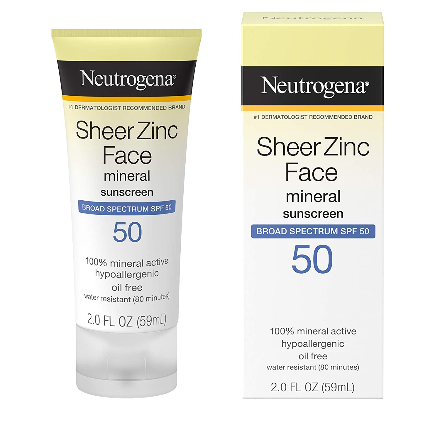 Neutrogena Sheer Zinc Oxide Dry-Touch Mineral Face Sunscreen Lotion