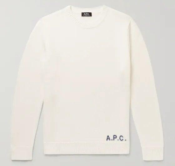 A.P.C.-Logo-Jacquard-Sweater