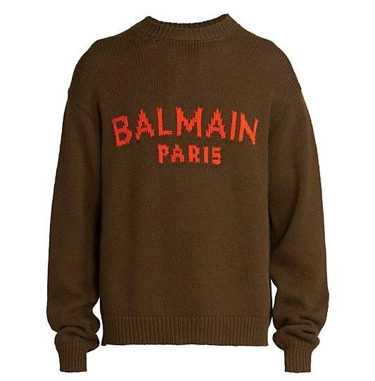 Balmain-Logo-Print-Merino-Wool-Sweater