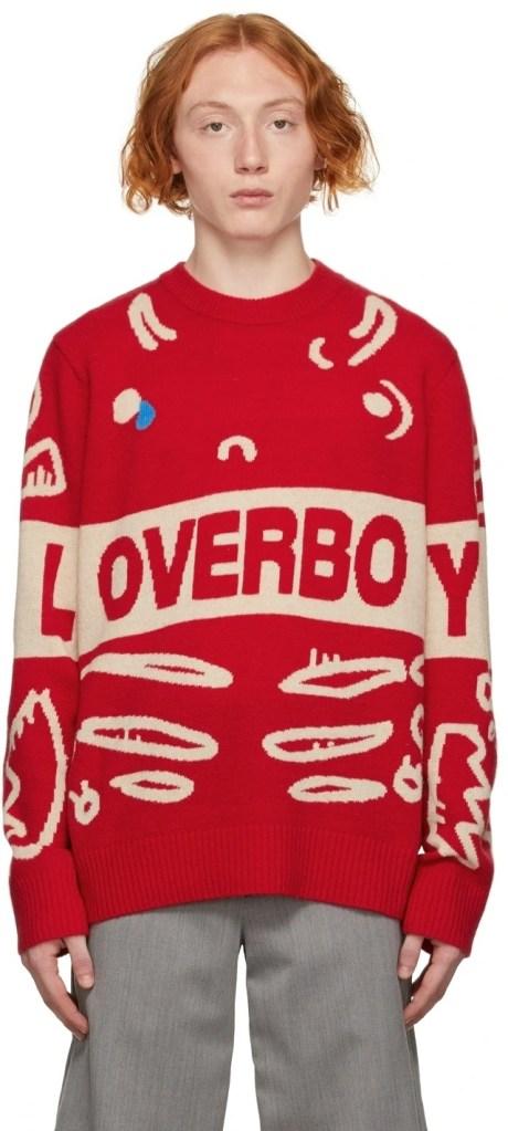 Charles-Jeffery-Red-Log-Graphic-Sweater