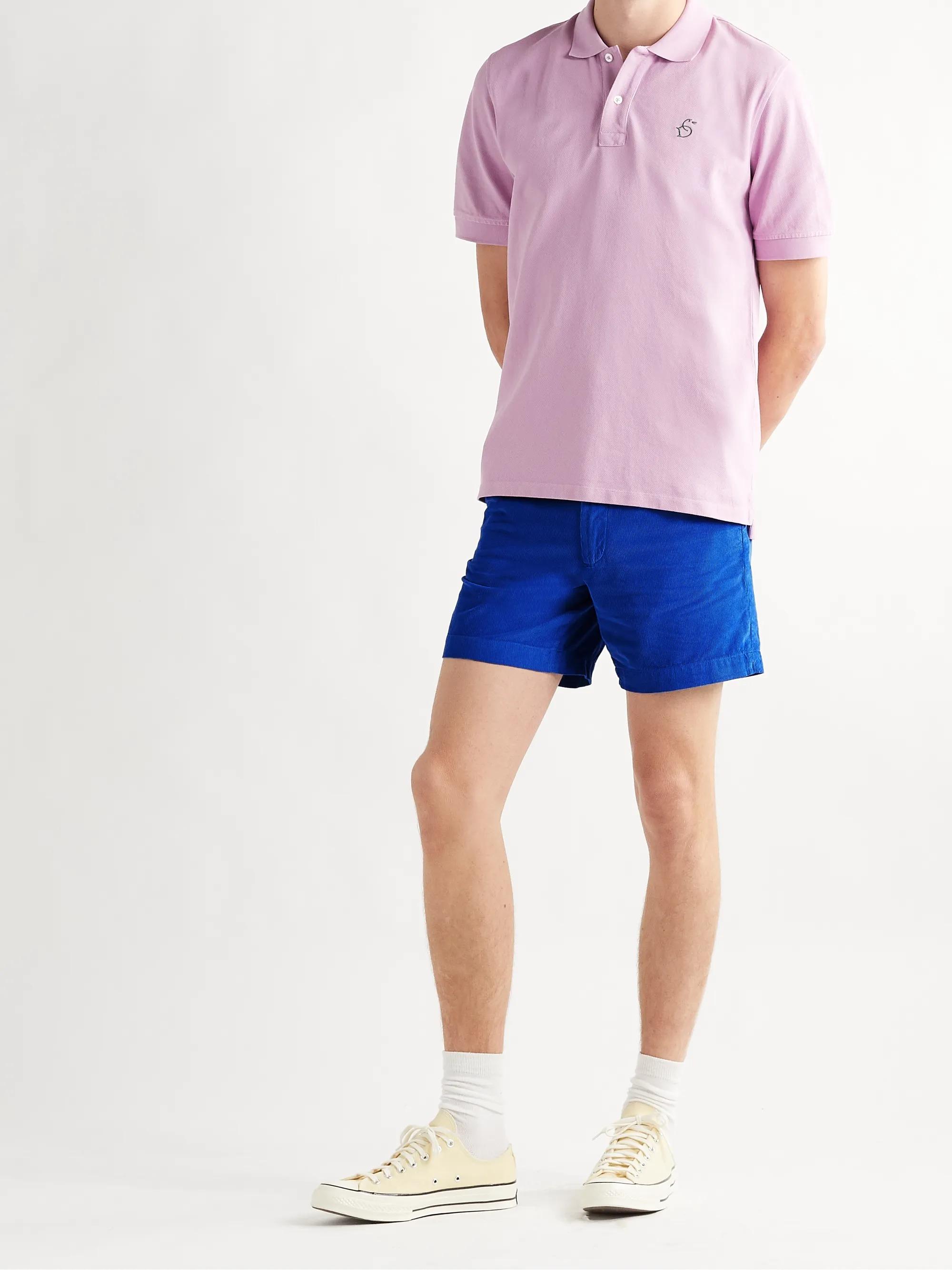 Drakes-Slim-Fit-Corduroy-Cotton-Chino-Shorts