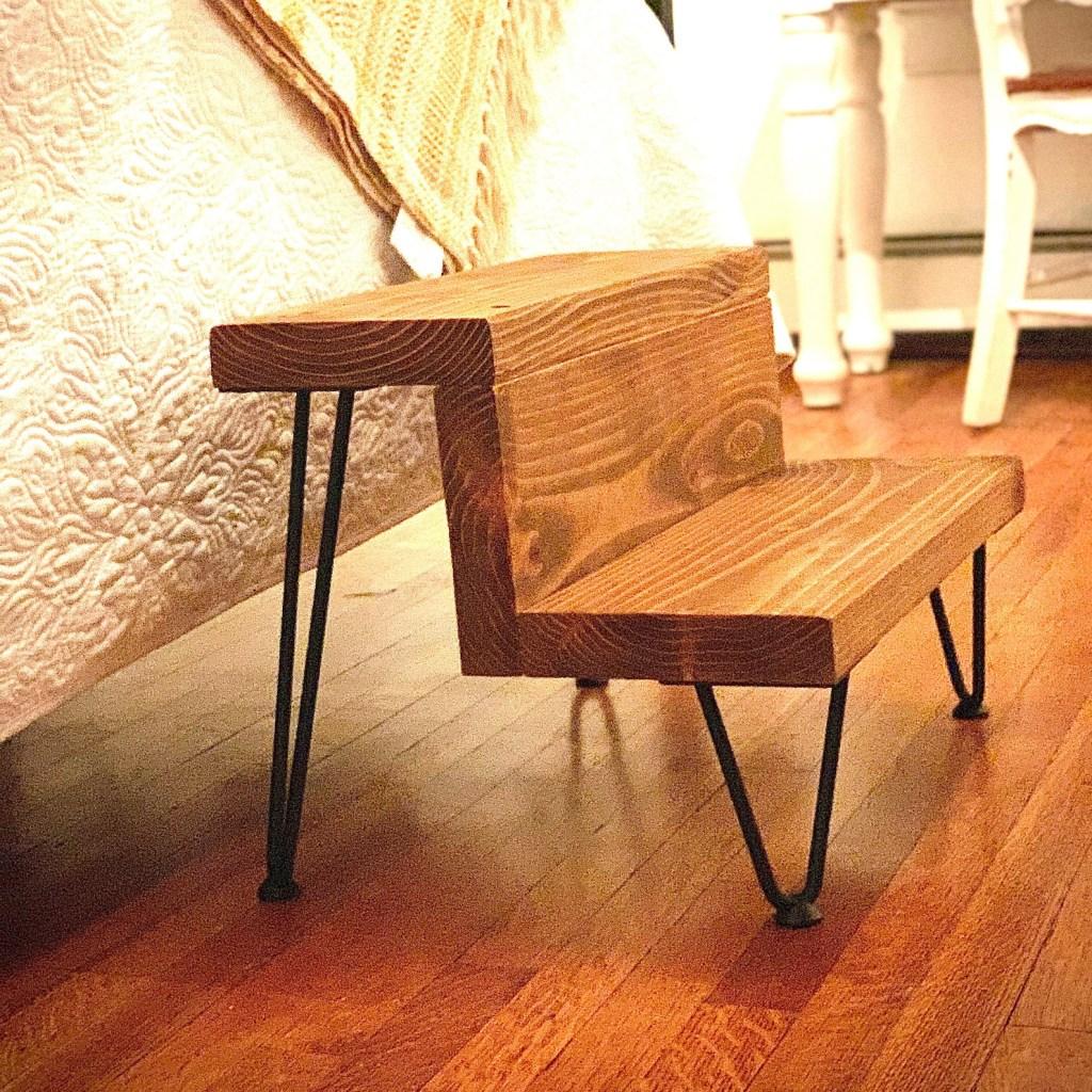 Reclaimed Industrial Modern Rustic Pet Step Stool, best pet stools