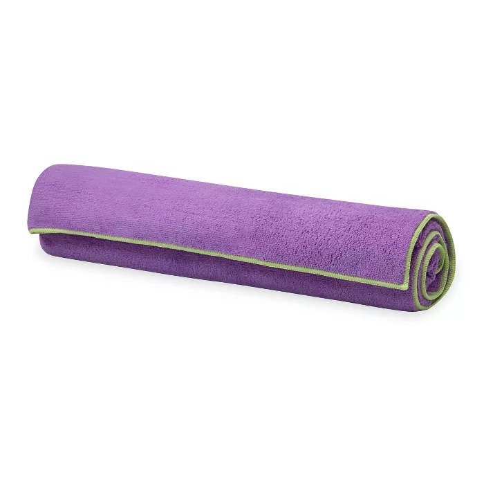Gaiam Stay Put Yoga Towel in Purple