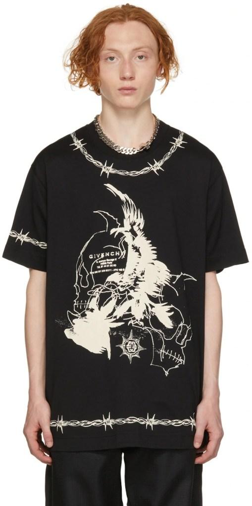Givenchy-Black-Gothic-T-Shirt