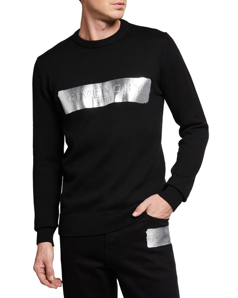 Givenchy-Wool-Sweater-with-Metallic-Logov