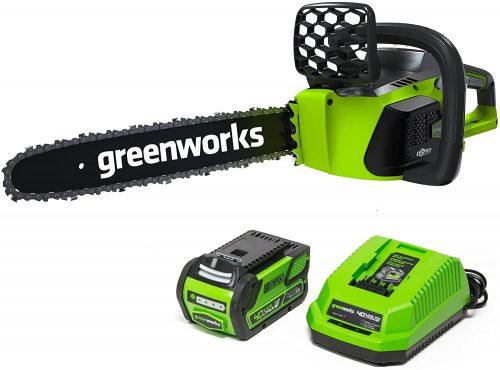 Greenworks G-Max 40 Volt Cordless Chainsaw, best chainsaws