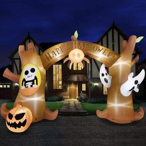 large Halloween decorations - HOOJOO Halloween inflatable archway