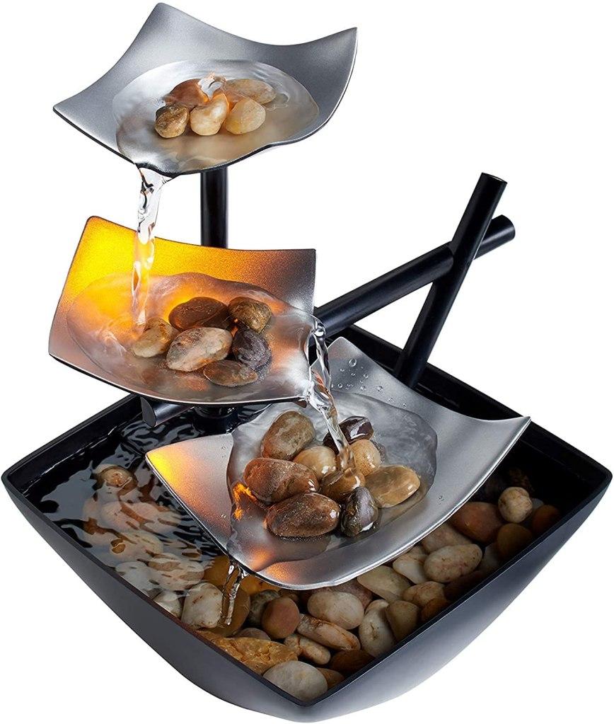 HoMedics Indoor 3-Tier Relaxation Tabletop Fountain