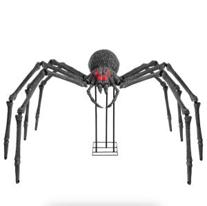 home accents holiday gargantuan spider, best halloween yard decorations