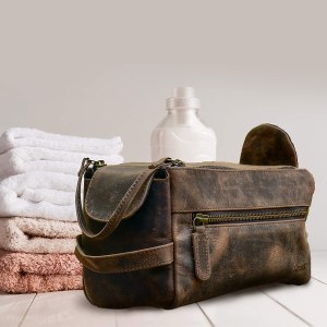 KOMALC leather toiletry kit, best Christmas gifts